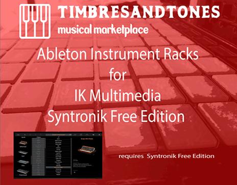 Ableton Instrument Racks for Syntronik Free Edition