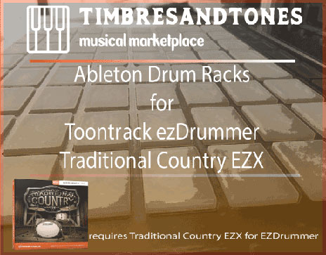 Ableton Drum Racks for ezDrummer Traditional Country EZX