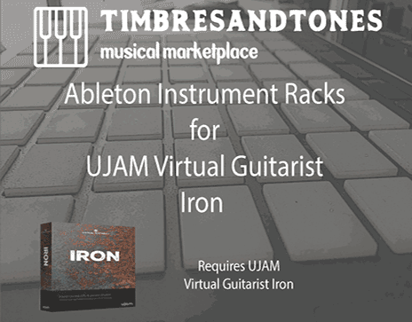 Ableton Instrument Racks for UJAM Virtual Guitarist Iron