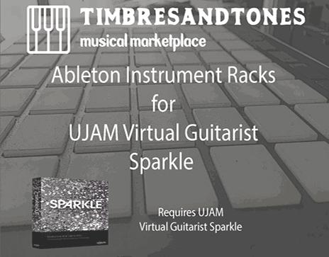 Ableton Instrument Racks for UJAM Virtual Guitarist Sparkle