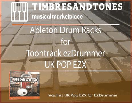Ableton Drum Racks for ezDrummer UK Pop EZX