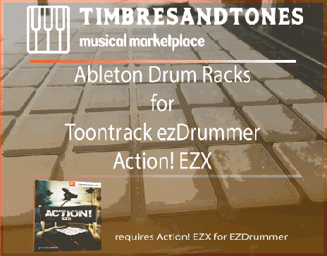 Ableton Drum Racks for ezDrummer Action EZX