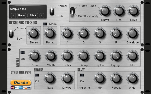 Bitsonic TB-303 Synthesizer