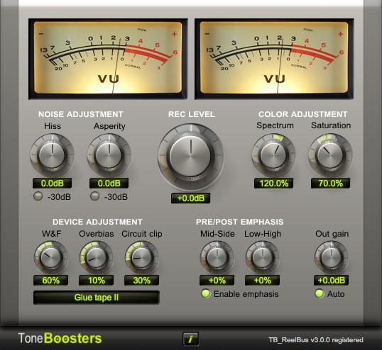 Resultado de imagen de Tone Boosters- TB Reelbus Tape Emulator