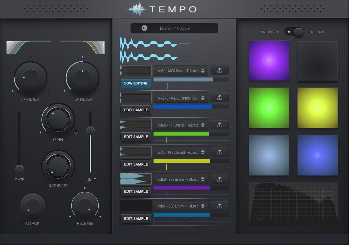 Produce-RNB releases Tempo VST/AU - Creative Drum Programmer