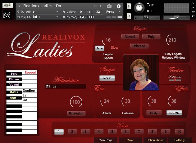 KVR: Realivox Teresa by Realitone - Soprano Singer VST Plugin, Audio