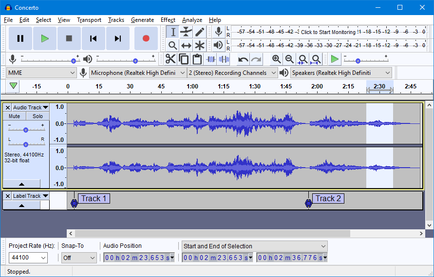 Audacity free download for pc.