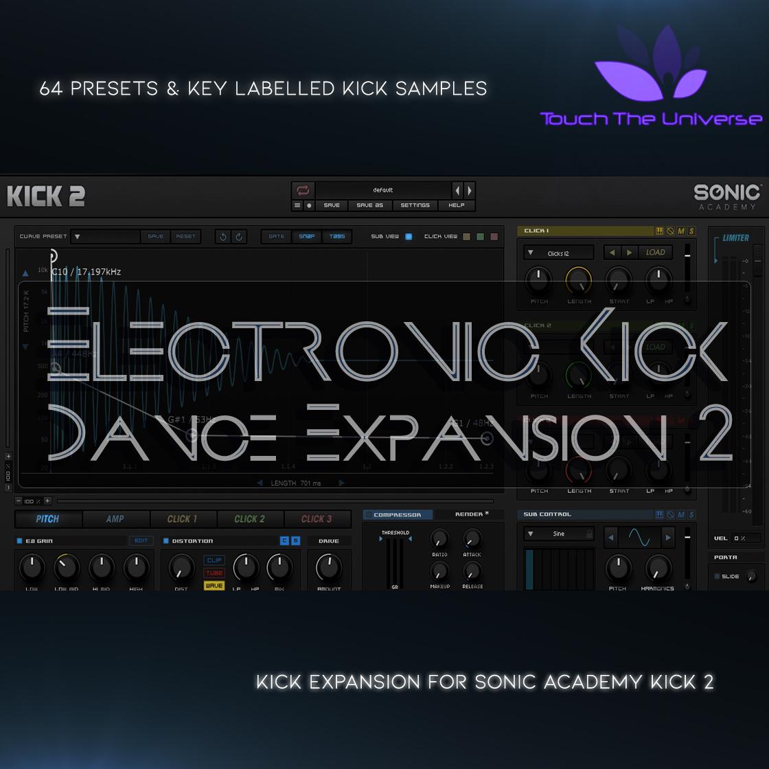 Electronic Dance Kick Expansion Vol.2 for Sonic Academy Kick 2
