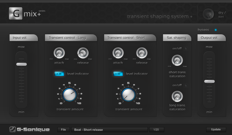 Transient shaping system+