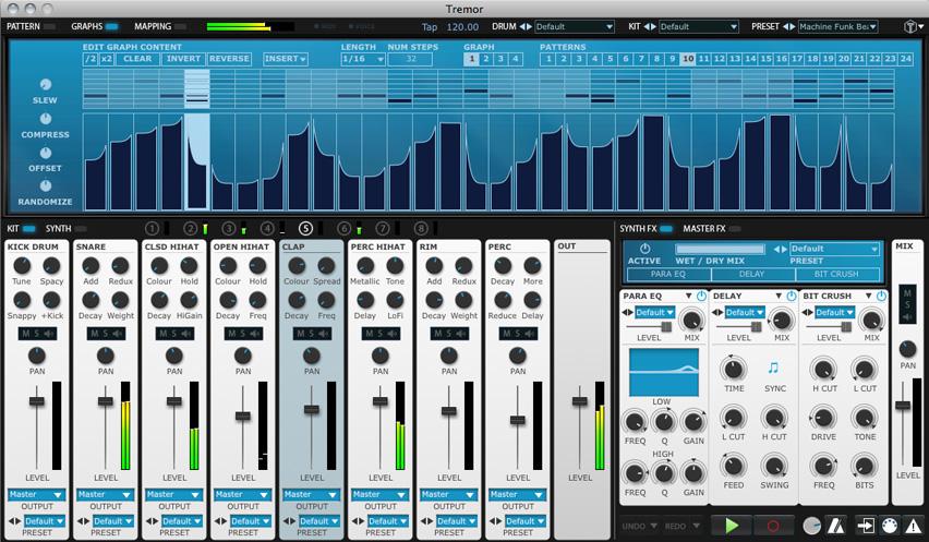 kvr tremor by fxpansion drum machine vst plugin audio units plugin rtas plugin and. Black Bedroom Furniture Sets. Home Design Ideas