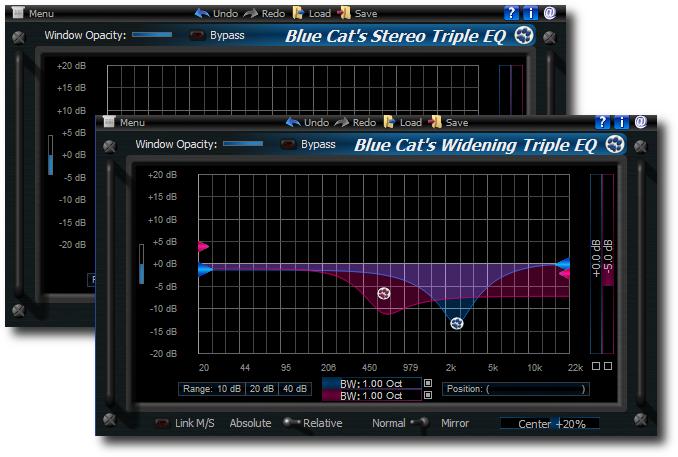 Blue Cat's Widening Triple EQ