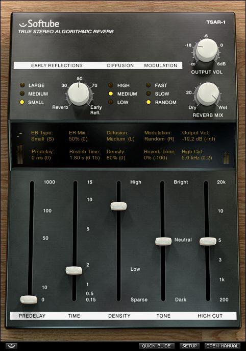 TSAR-1 True Stereo Algorithmic Reverb