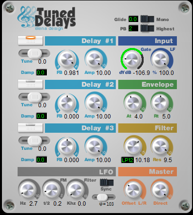 KVR: Tuned Delays by Elena Design - Harmonizer VST Plugin