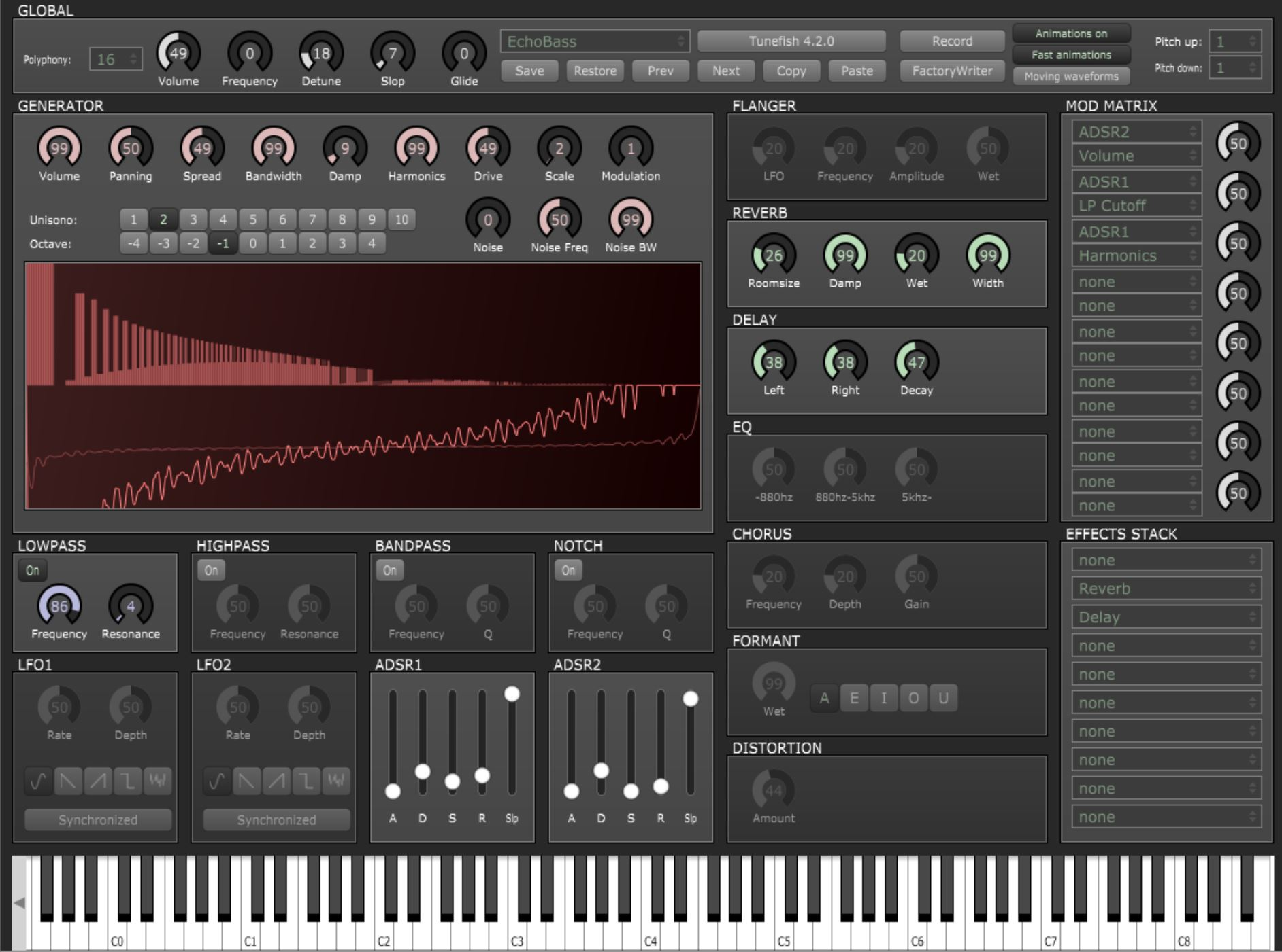 KVR: Tunefish 4 by Brain Control - Additive- / Wavetable