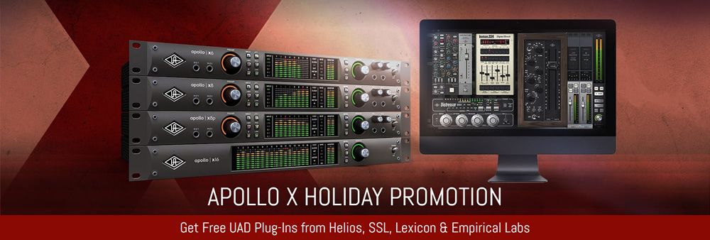 KVR: #KVRDeal Universal Audio Holiday Promotion for new