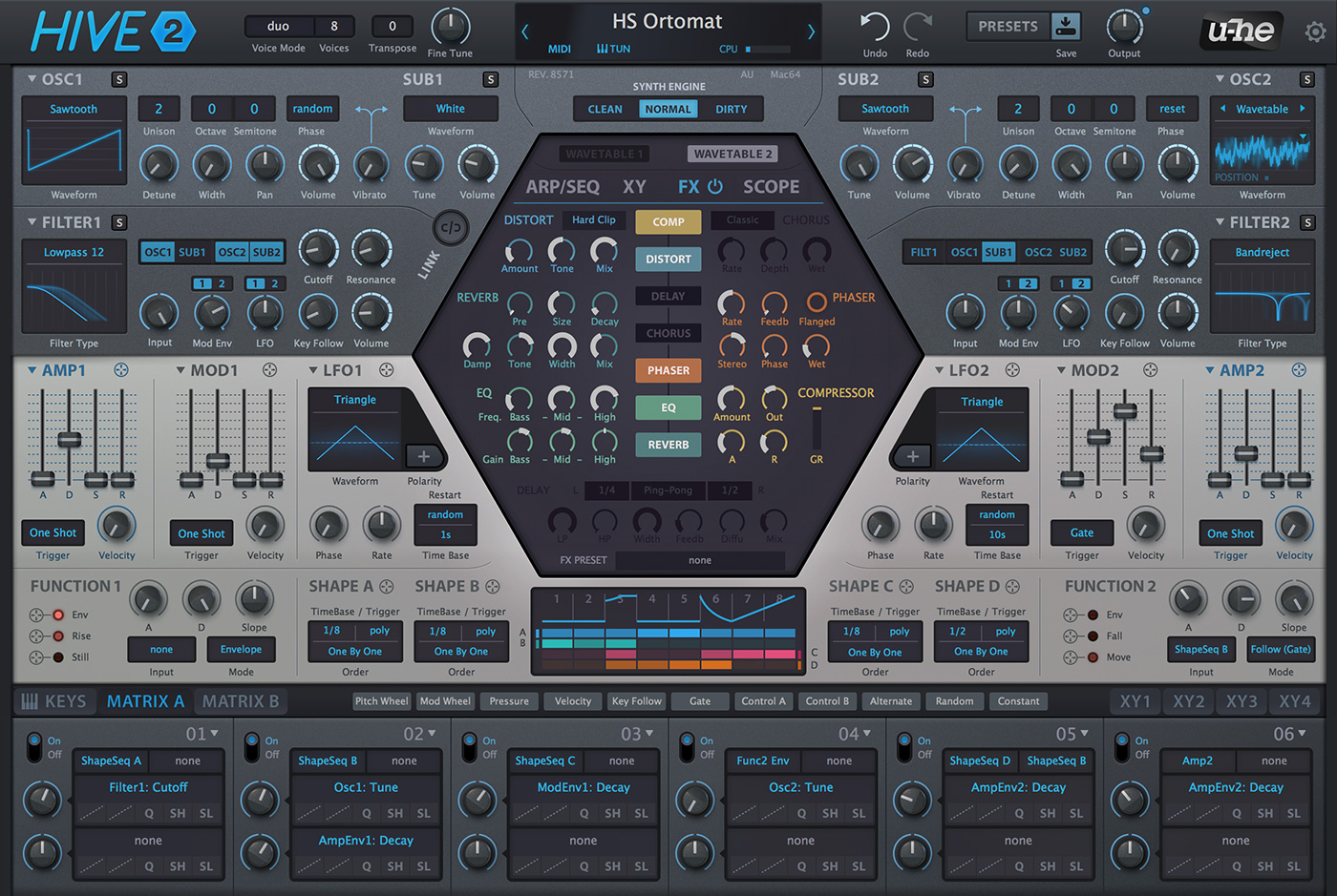 KVR: Hive 2 by u-he - Lead Synth VST Plugin, Audio Units Plugin, VST