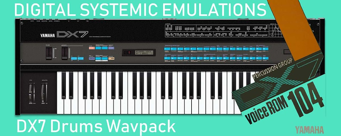 DX7 Drums Wavpack (VCR-104)