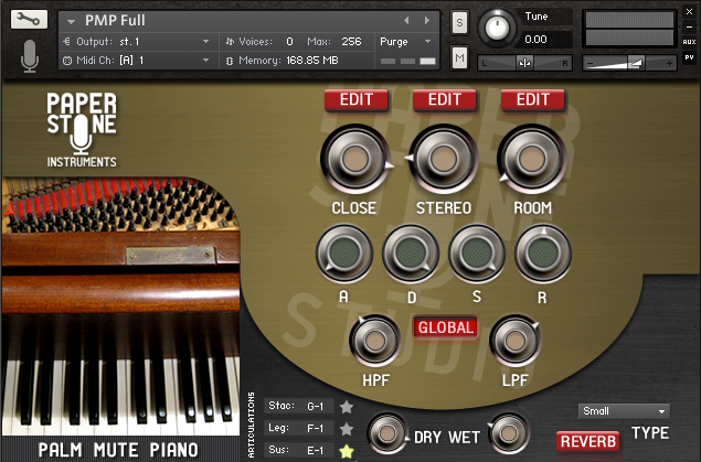 Palm Mute Piano. Finger Dampened 2.6GB Piano Kontakt Library