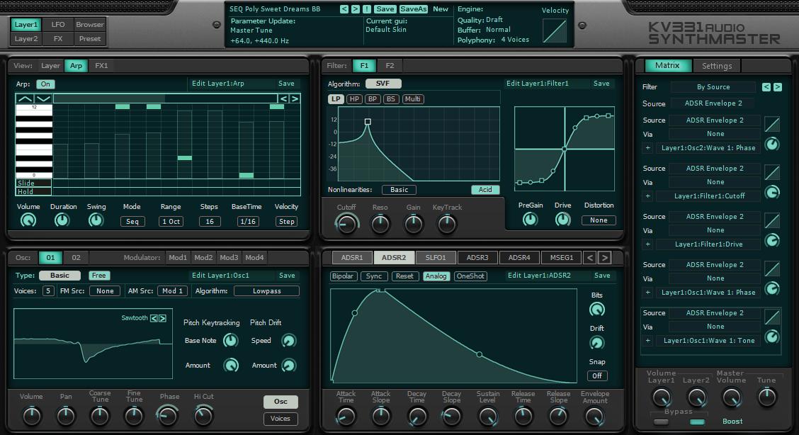 KVR: SynthMaster by KV331 Audio - Synth (Semi Modular) VST