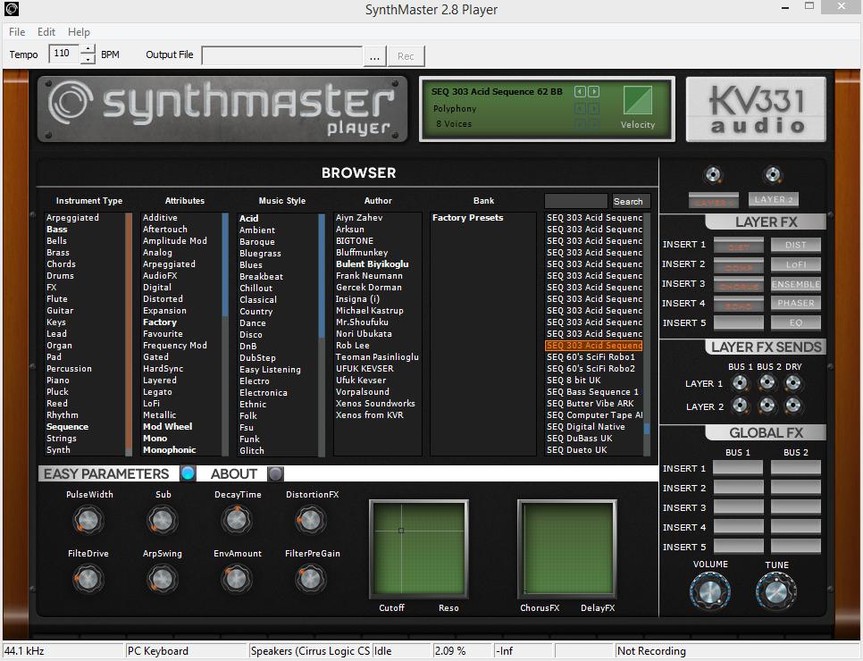 KVR: SynthMaster by KV331 Audio - Synth (Semi Modular) VST Plugin
