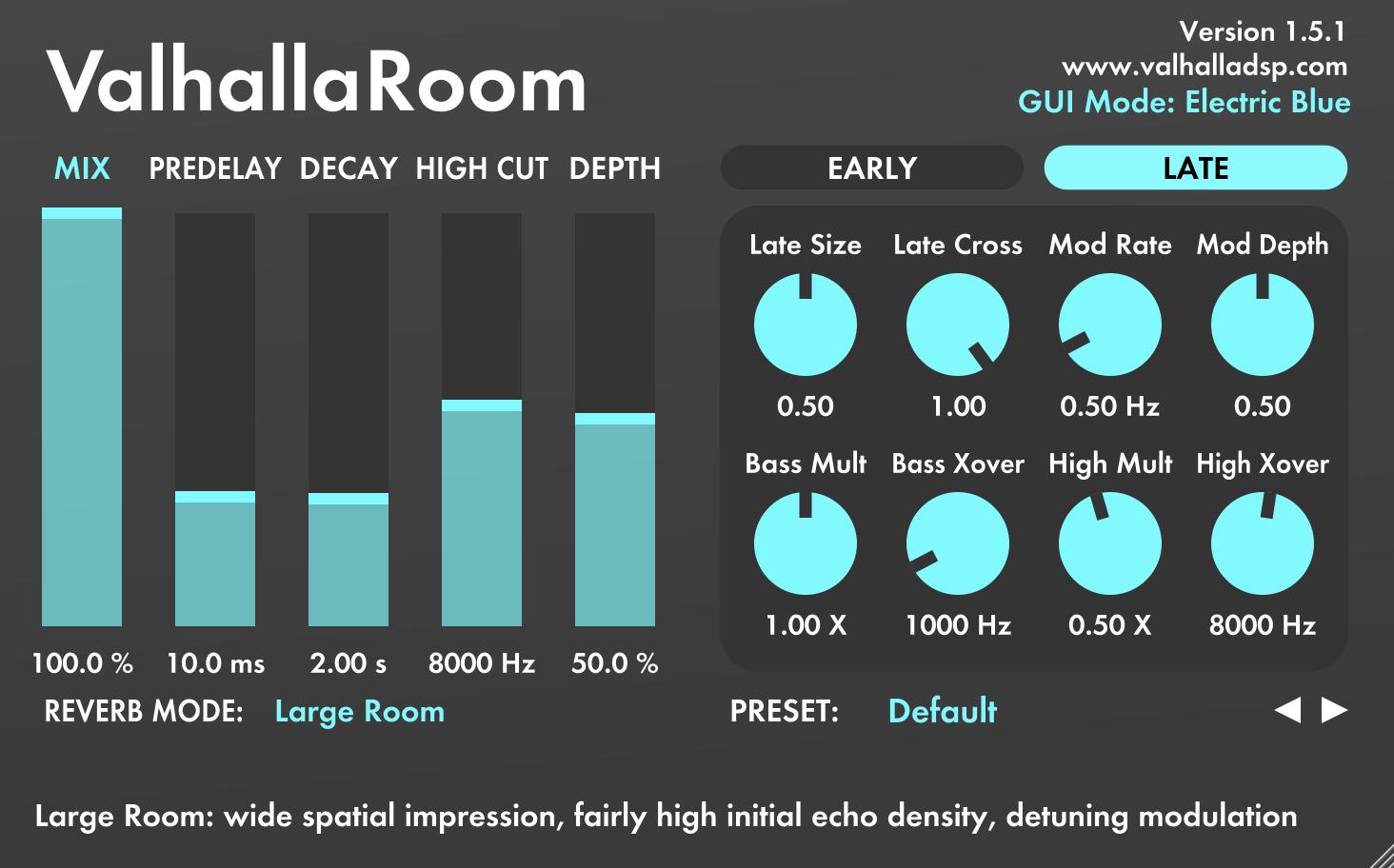 Valhalla Dsp Updates Valhallavintageverb To V1 7 1 And Valhallaroom To V1 5 1