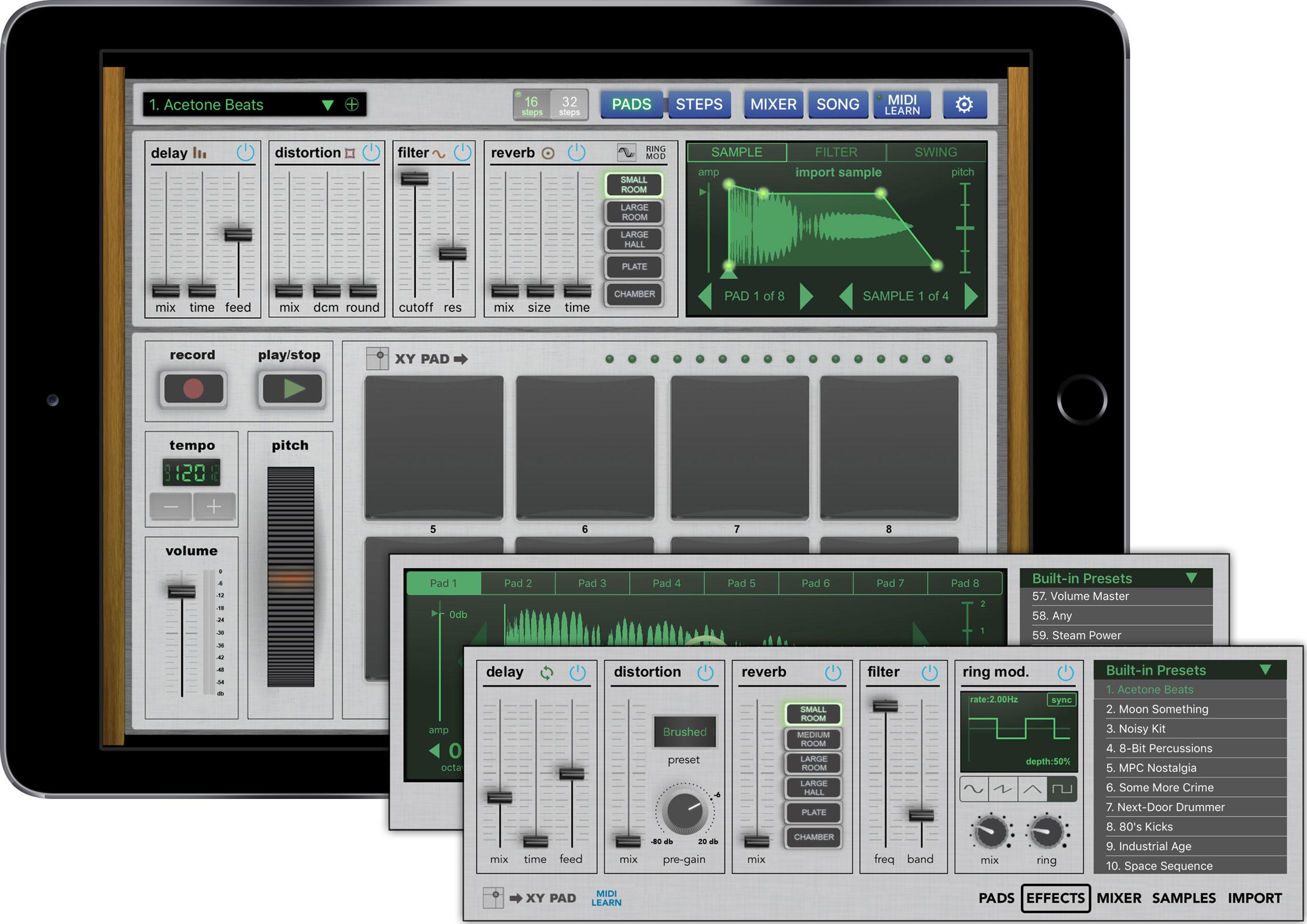 kvr backpullver updates vatanator drum machine for ipad with audio unit extension support. Black Bedroom Furniture Sets. Home Design Ideas