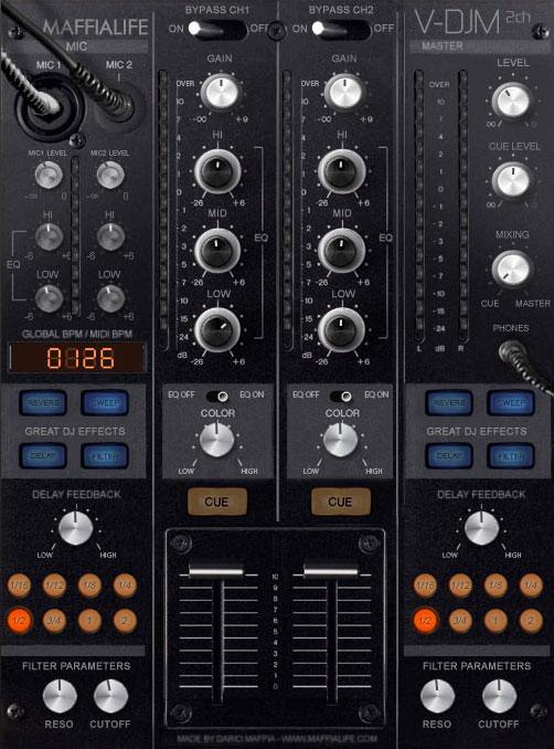 KVR: Dario Maffia releases V-DJM 2ch - Virtual DJ Mixer