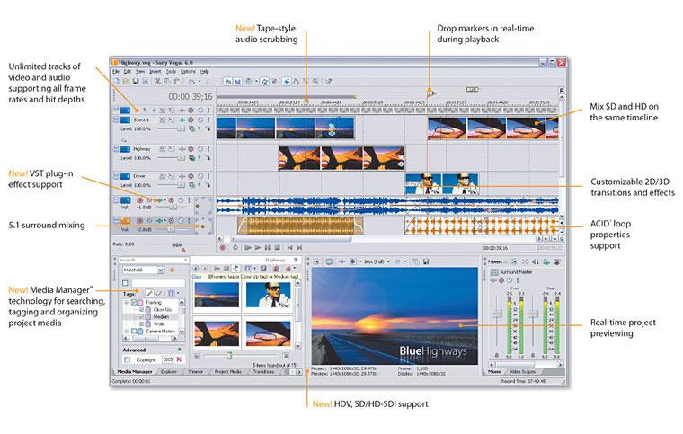 Sony Vegas 7.0e Build 216 Shareware/English скачать торрент бесплатно.