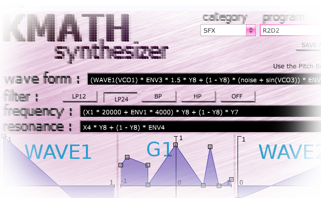 kvr kmath synthesizer by kmusicsoftware synth modular vst plugin audio units plugin vst 3. Black Bedroom Furniture Sets. Home Design Ideas