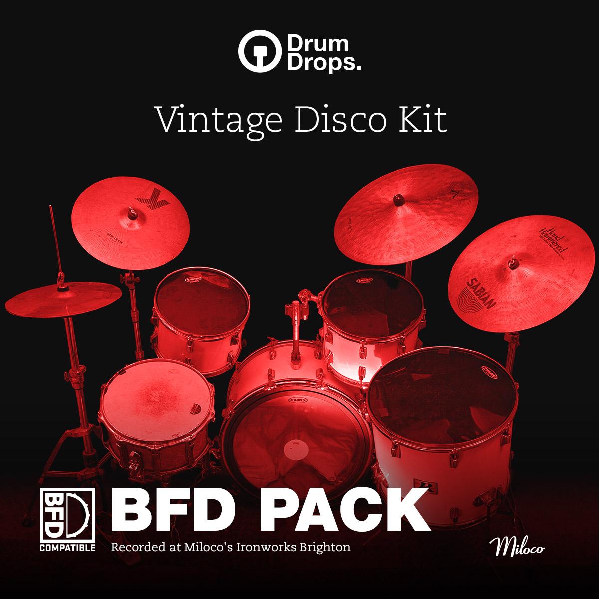 vintage disco kit - BFD pack