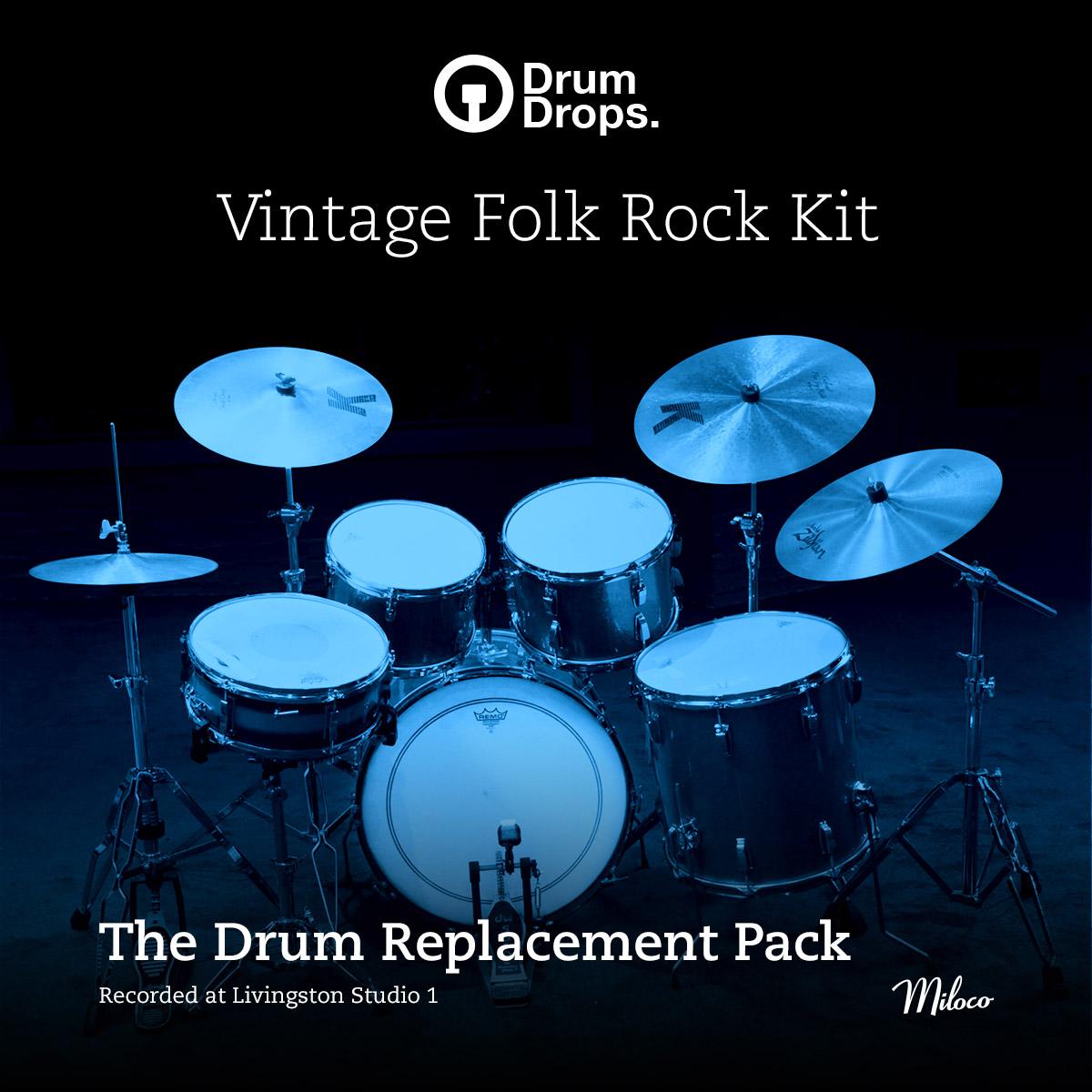Vintage Folk Rock Kit - Drum Replacement Pack