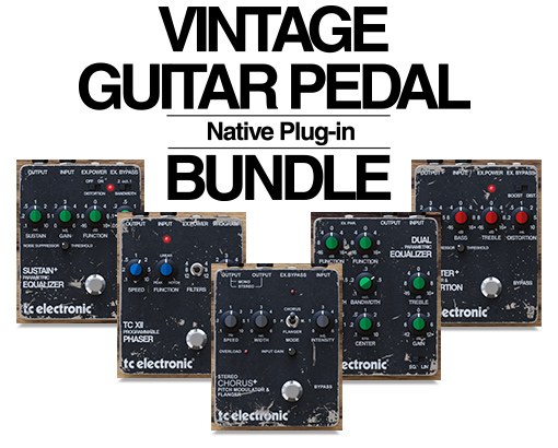 kvr vintage guitar pedal bundle by tc electronic plug in bundle vst plugin audio units. Black Bedroom Furniture Sets. Home Design Ideas