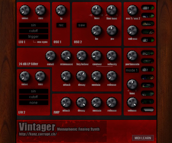 KVR: Vintager by Togu Audio Line - Synth (Analogue / Subtractive