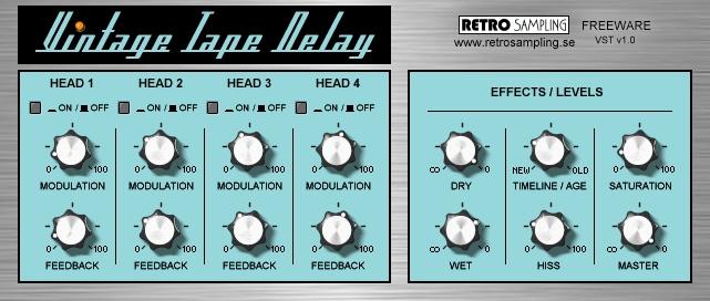 Delay Tape Vintage Tape Delay