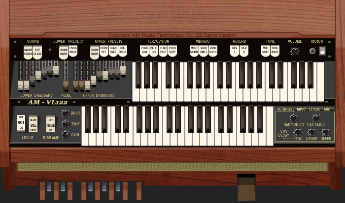 KVR: AM Music Technology releases VL-122 - Spinet Organ