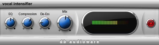 kvr vocal intensifier by db audioware exciter enhancer vst plugin and audio units plugin. Black Bedroom Furniture Sets. Home Design Ideas