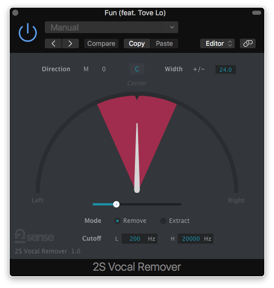 2S Vocal Remover