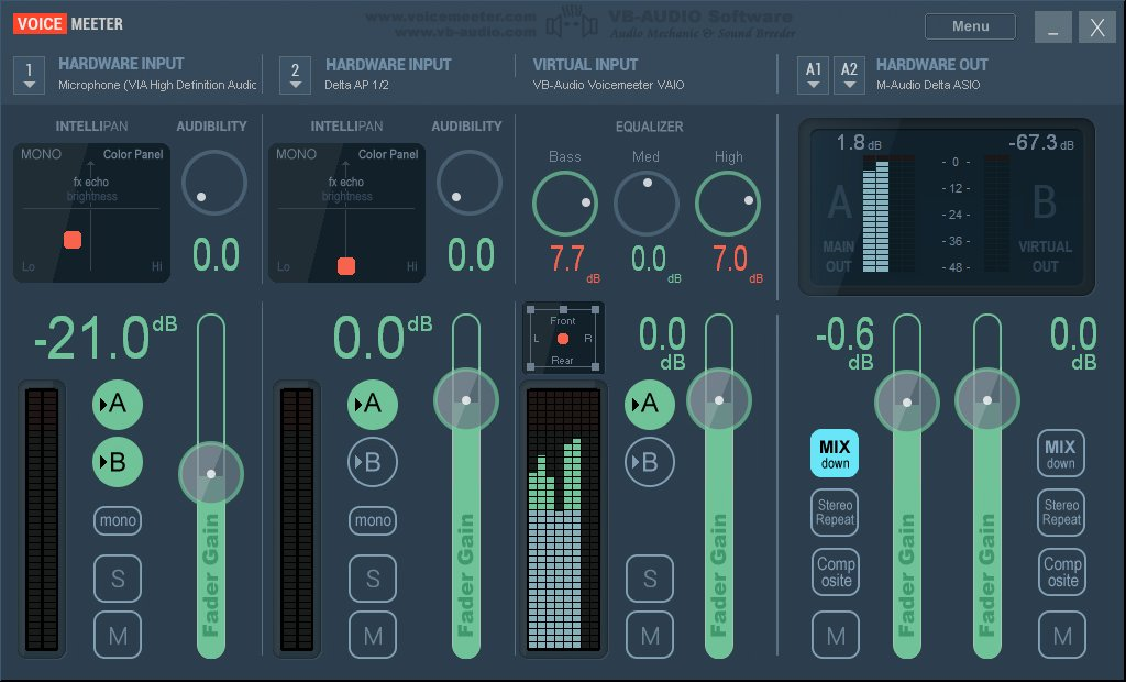 Kvr Voicemeeter By Vb Audio Virtual Mixing Console
