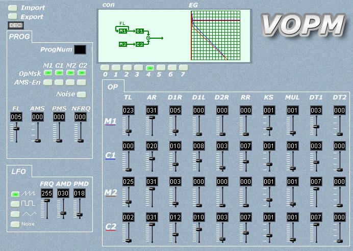 VOPM yamaha emulation