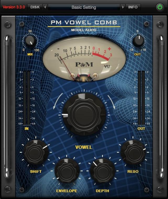 P&M Vowel Comb