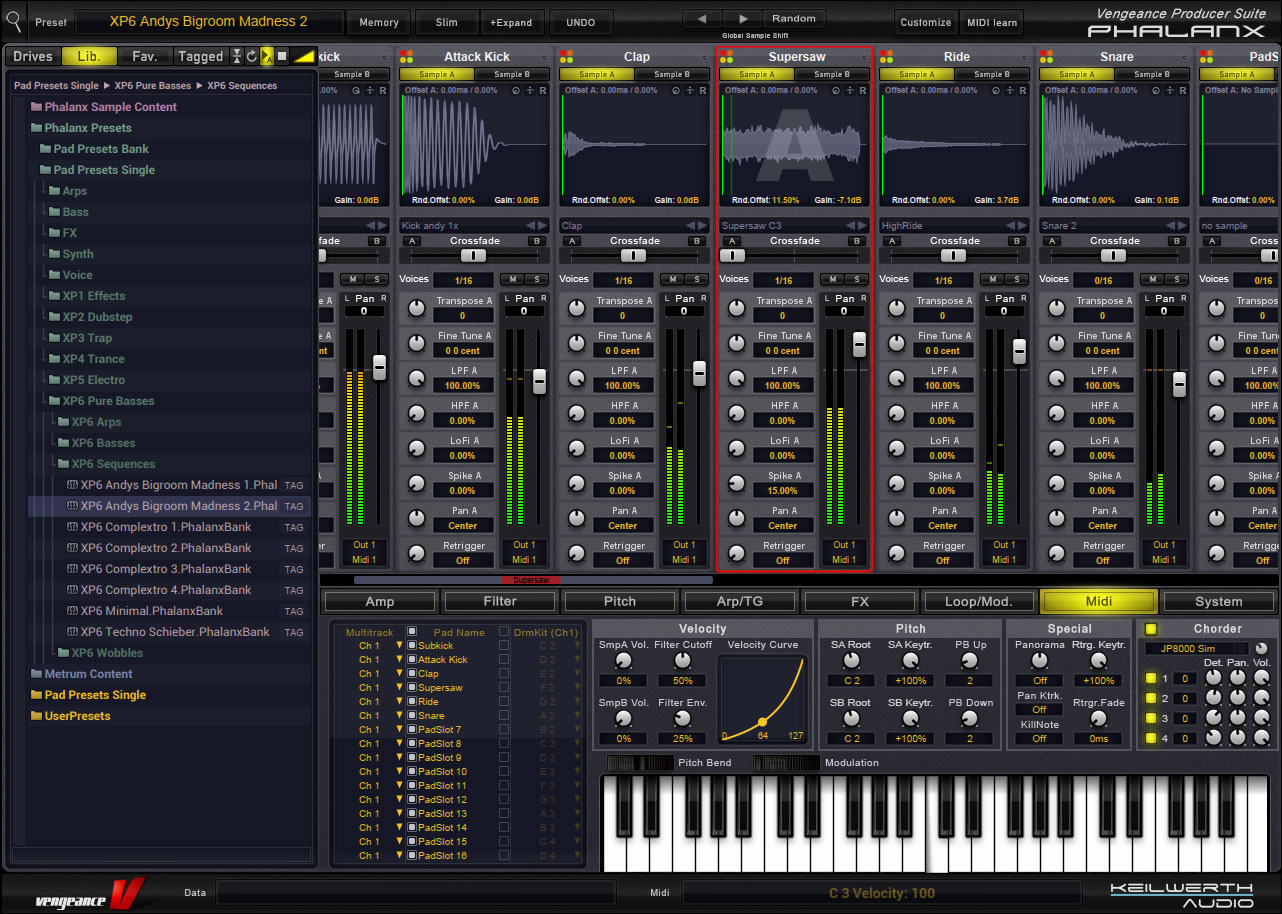 KVR: VPS Phalanx by Vengeance Sound - Sampler/Sample Player VST