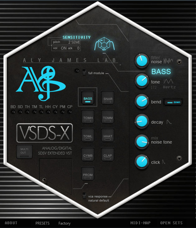 KVR: VSDSX SDSV Drums by Aly James Lab - Drum Synthesizer
