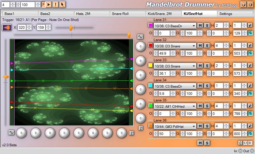Mandelbrot Drummer VST Rhythm Maker