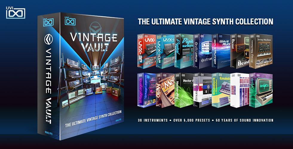 KVR: Vintage Vault by UVI - Synth Bundle VST Plugin, Audio Units