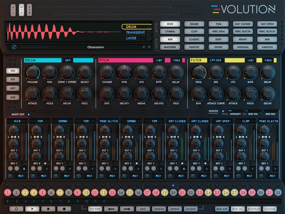 kvr wave alchemy releases evolution drum machine plugin for kontakt player. Black Bedroom Furniture Sets. Home Design Ideas