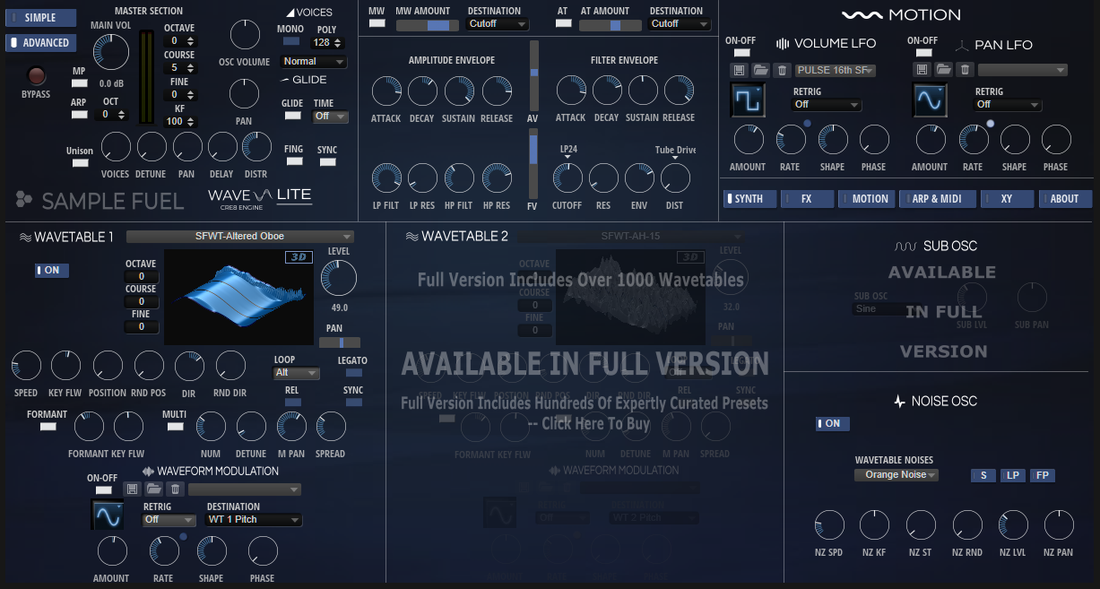 KVR: Sample Fuel releases Wave-Lite - Free wavetable synthesizer for