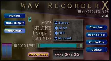HGS WAV Recorder X