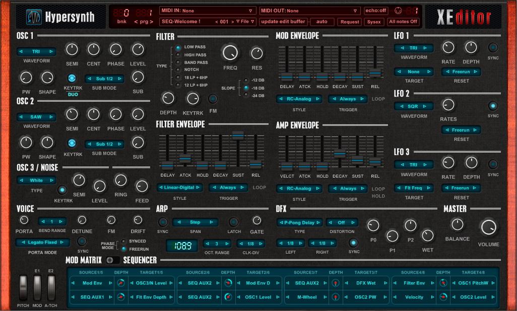 KVR: XEditor by HyperSynth - MIDI Editor VST Plugin, Audio Units