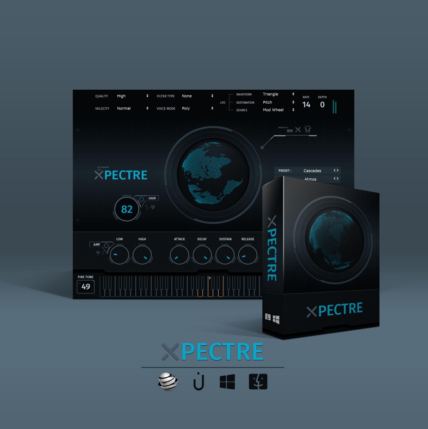 KVR: Xpectre by Thenatan - Trap VST Plugin, Audio Units