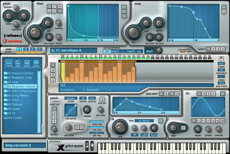 KVR: Xphraze by Steinberg - Phrase Synth VST Plugin and Audio Units